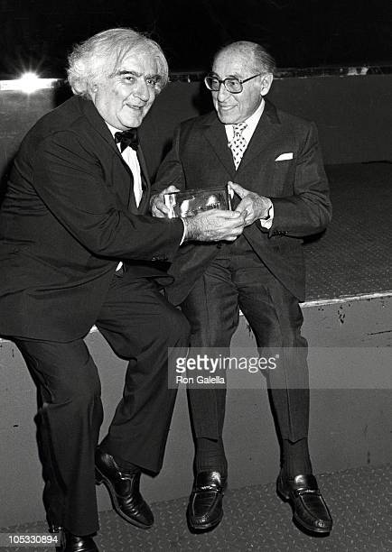 Cornell Cappa and Alfred Eisenstaedt during 4th Annual International Center of Photography Awards at International Center of Photography in New York...