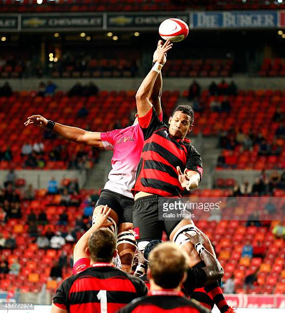 Cornell Hess of the EP Kings takes the ball in the lineout during the Absa Currie Cup match between EP Kings and Steval Pumas at Nelson Mandela Bay...