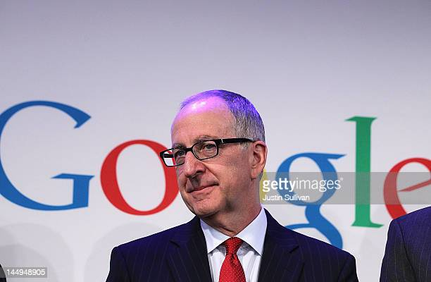 Cornell University president David Skorton speaks during a news conference at the Google offices on May 21 2012 in New York City Google announced...