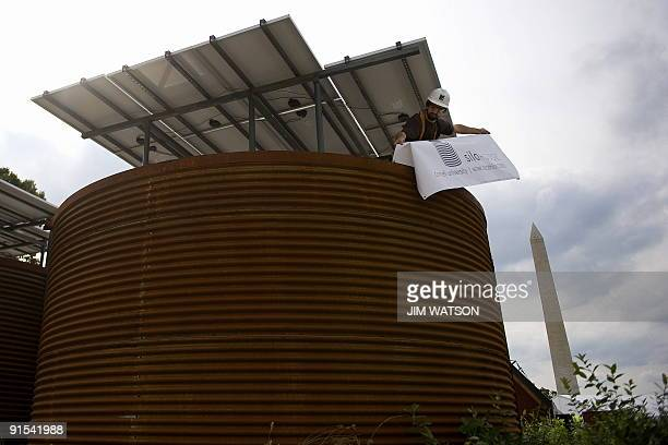 Cornell University's submission to the US Department of Energy Solar Decathlon sits on display at the National Mall in Washington DC October 6 2009...