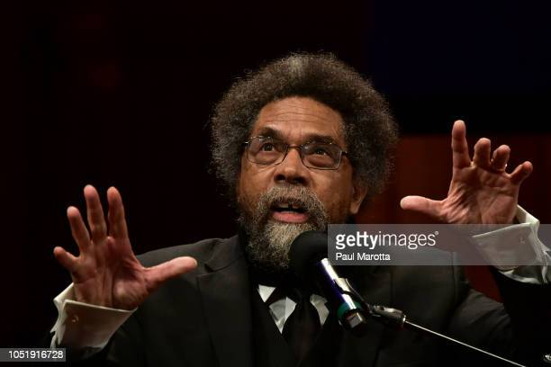 Cornell West introduces Colin Kaepernick at the WEB Du Bois Medal Award Ceremony at Harvard University on October 11 2018 in Cambridge Massachusetts...