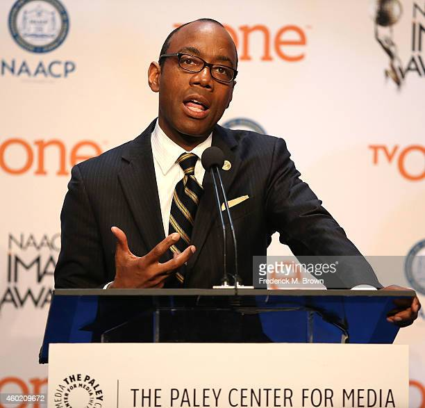 Cornell William Brooks, President/CEO/NAACP, speaks during the 46th NAACP Image Awards Nomination Annoucement and Press Conference at The Paley...