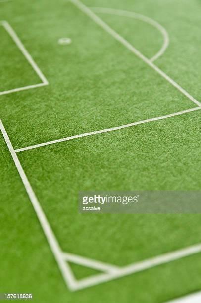 corner und Strafraum auf dem Fußballplatz
