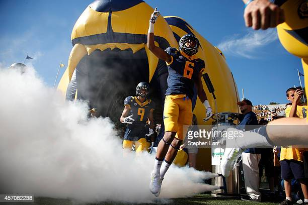 Corner back Darius White of the California Golden Bears gestures as he enters California Memorial Stadium for his game against the Washington Huskies...