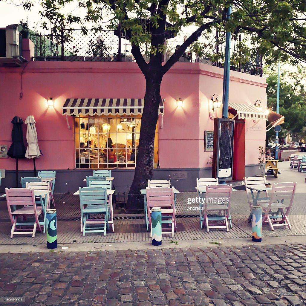 Cafetería en esquina : Foto de stock