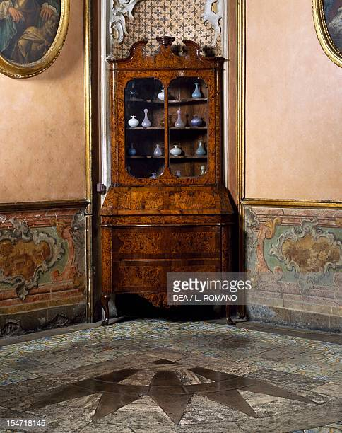 Corner cupboard in a room of Palazzo Biscari Catania Sicily Italy 18th century
