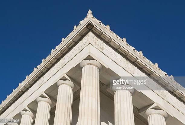 detalhe do canto de o lincoln memorial, washington dc, eua - coluna arquitetônica - fotografias e filmes do acervo