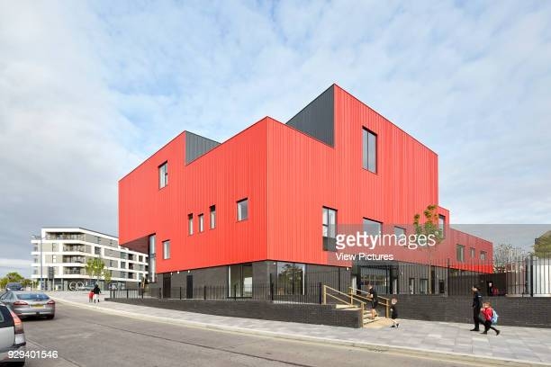 Corner elevation from sloping street Plymouth Creative School of Art Plymouth United Kingdom Architect Feilden Clegg Bradley Studios LLP 2015
