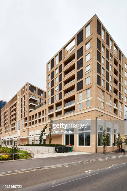 Corner elevation of housing block Canning Town London United Kingdom Architect N/A 2017