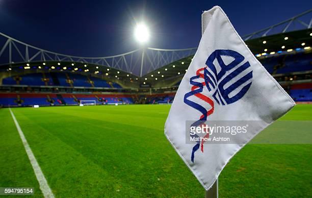 Corner flag at The Reebok Stadium home of Bolton Wanderers