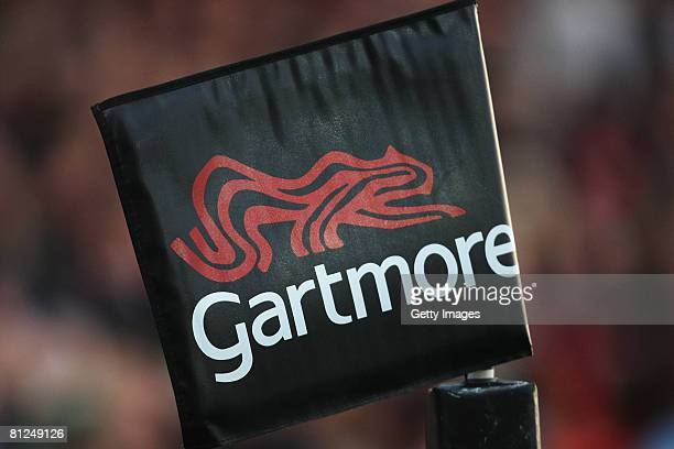 Corner flag is pictured during the International Friendly match between the Barbarians and Ireland at Kingsholm Stadium on May 27, 2008 in...