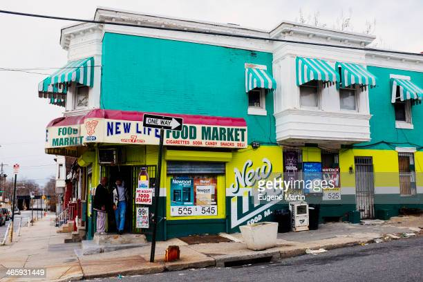 Corner grocery store in North Philadelphia.