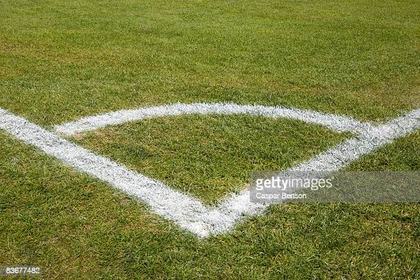 Corner marking on a soccer field