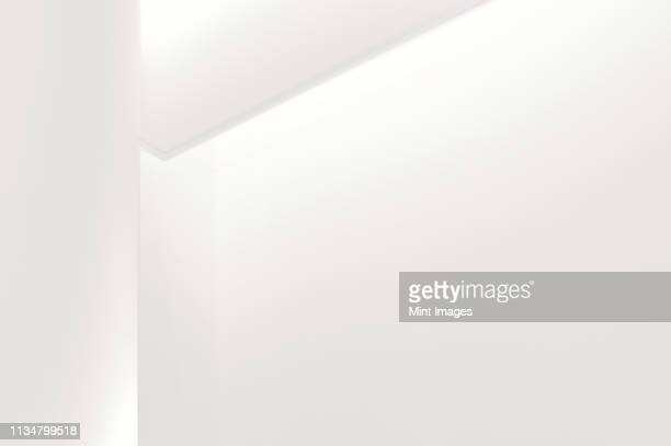 corner of a modern white wall - j. paul getty museum stock pictures, royalty-free photos & images