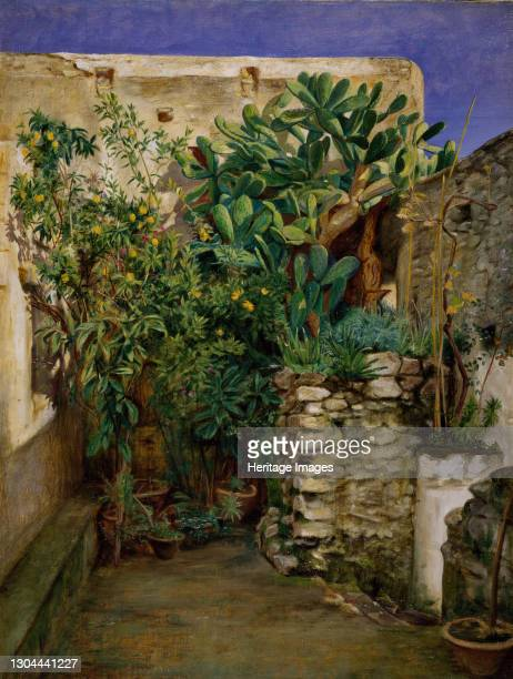 Corner of an Eastern Courtyard, 1860. Artist Henry Wallis.