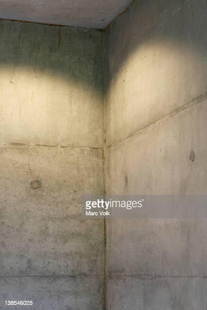 Corner of concrete wall