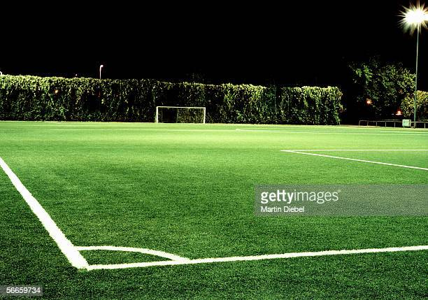 corner of football field - コーナリング ストックフォトと画像