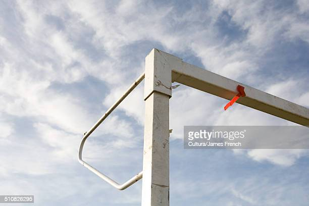 Corner of goalpost