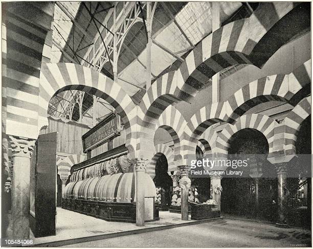 Corner of Spanish Exhibit Interior of Manufactures and Liberal Arts Building From ''Columbian Gallery A Portfolio of Photographs of the World's...