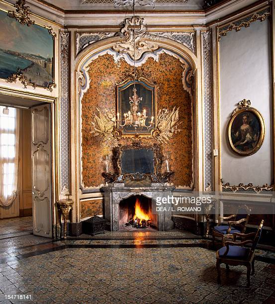 A corner of the Ballroom Palazzo Biscari Catania Sicily Italy 18th century