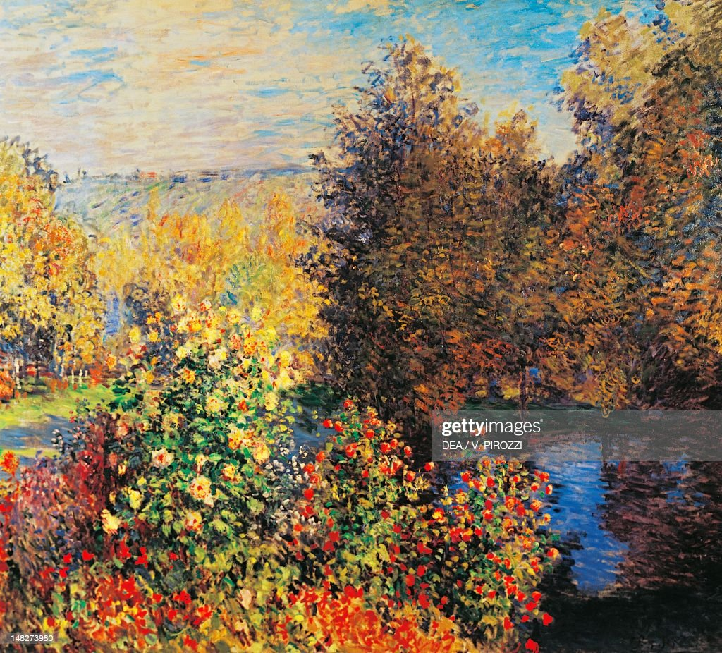 Corner of the garden in Montgeron by Claude Monet , oil on canvas ...
