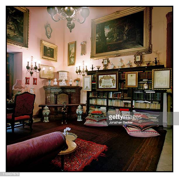 Corner of the library in the Palacio de Duenas is photographed for Vogue Espana on March 15-17, 2010 in Seville, Spain. Published image.