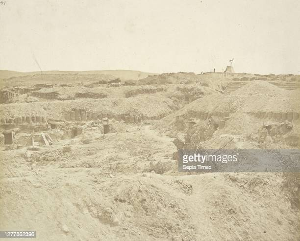Corner of the Malakoff Battery. The Mamelon Vert in the Distance; James Robertson , Attributed to Felice Beato ; Crimea; 1855; Salted paper print; 23...