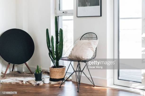 a corner of the modern and bright living room - japan stock pictures, royalty-free photos & images