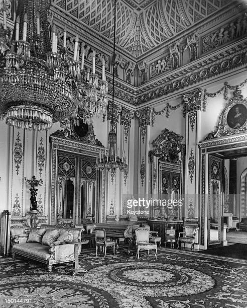A corner of the White Drawing Room at Buckingham Palace London 21st August 1947