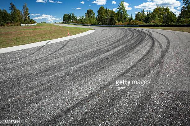 Corner on a car race track