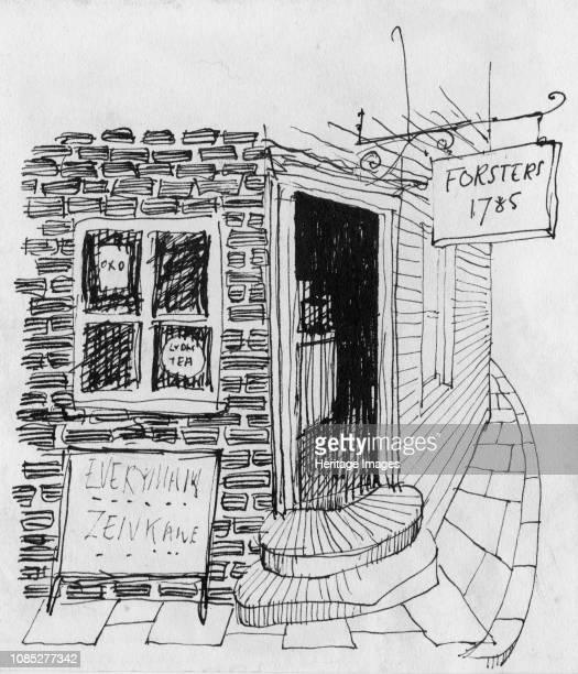 Corner shop 1952 Artist Shirley Markham