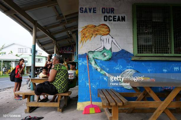 A corner store near Nauti Primary School on August 15 2018 in Funafuti Tuvalu The small South Pacific island nation of Tuvalu is striving to mitigate...