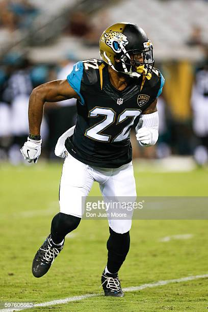 Cornerback Aaron Colvin of the Jacksonville Jaguars during a preseason game against the Cincinnati Bengals at EverBank Field on August 28 2016 in...