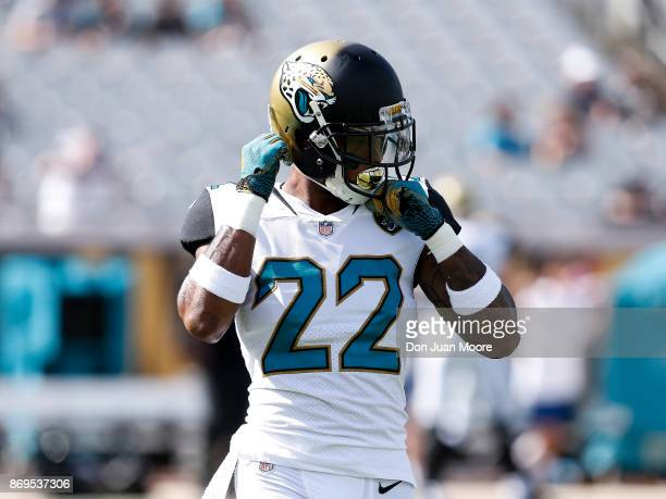 Cornerback Aaron Colvin of the Jacksonville Jaguars during the game against the Los Angeles Rams at EverBank Field on October 15 2017 in Jacksonville...