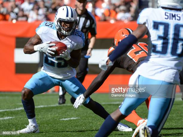 Cornerback Adoree' Jackson of the Tennessee Titans returns a punt in the first quarter of a game on October 22 2017 against the Cleveland Browns at...