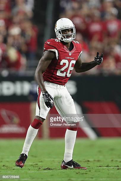 Cornerback Brandon Williams of the Arizona Cardinals during the NFL game against the New England Patriots at the University of Phoenix Stadium on...