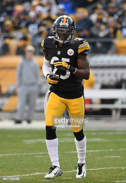 Cornerback Brice McCain of the Pittsburgh Steelers looks on from the field during a game against the Kansas City Chiefs at Heinz Field on December 21...