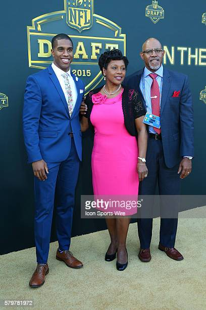 Cornerback Byron Jones and his Parents on the Gold Carpet at the 2015 National Football League Draft The 2015 National Football League Draft was held...