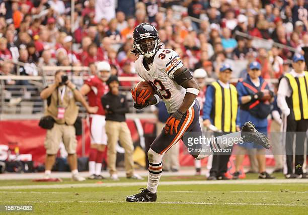Cornerback Charles Tillman of the Chicago Bears scores a 10 yard interception touchdown against the Arizona Cardinals during the third quarter of the...