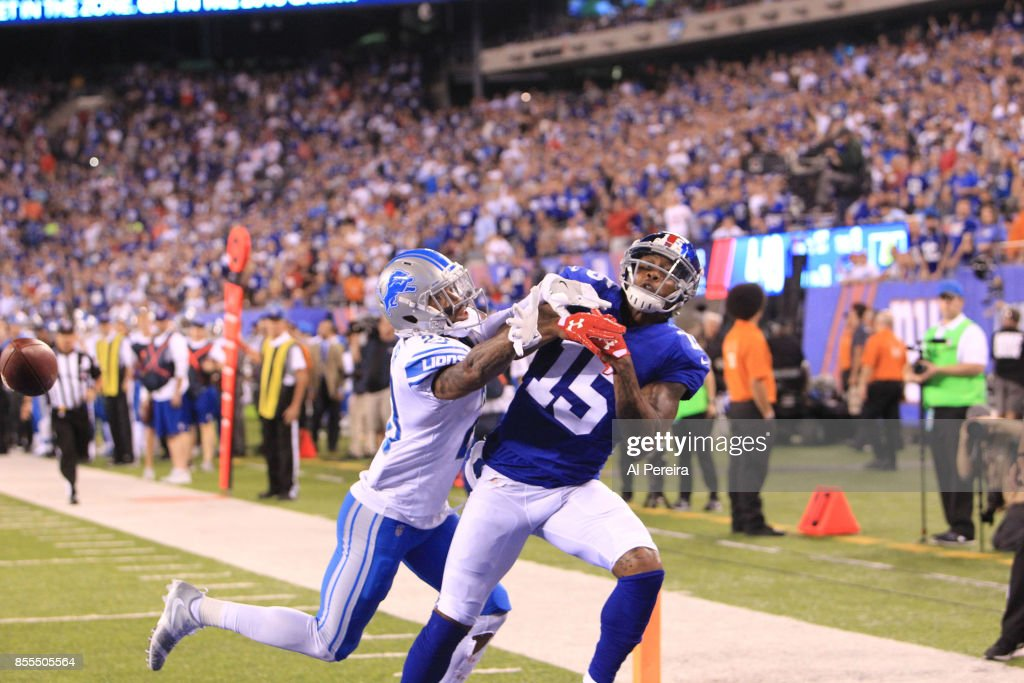 Detroit Lions vNew York Giants : News Photo