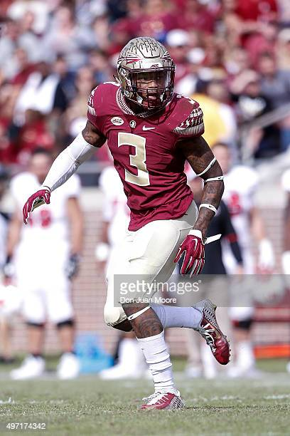 Cornerback Derwin James of the Florida State Seminoles during the game against the North Carolina State Wolfpack at Doak Campbell Stadium on Bobby...