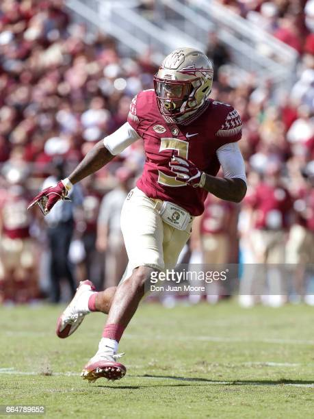 Cornerback Derwin James of the Florida State Seminoles during the game against the Louisville Cardinals at Doak Campbell Stadium on Bobby Bowden...