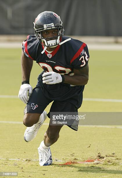Cornerback Fred Bennett of the Houston Texans works out during the teams OTA's at their training facility on June 4, 2007 in Houston, Texas.