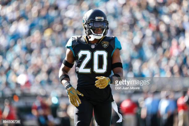 Cornerback Jalen Ramsey of the Jacksonville Jaguars during the game against the Houston Texans at EverBank Field on December 17 2017 in Jacksonville...