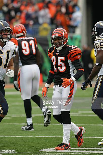 Cornerback Keiwan Ratliff of the Cincinnati Bengals during the game against the San Diego Chargers on November 12, 2006 at Paul Brown Stadium in...