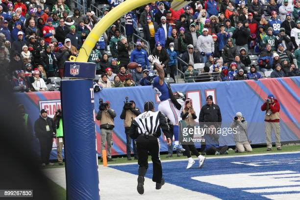 Cornerback Patrick Robinson of the Philadelphia Eagles in action against the New York Giants during the game at MetLife Stadium on December 17 2017...