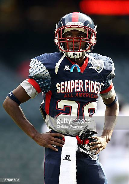 Cornerback Ryan Dillard of the East team during the Semper Fidelis AllAmerican Bowl at Chase Field on January 3 2012 in Phoenix Arizona