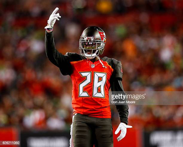 Cornerback Veron Hargreaves III of the Tampa Bay Buccaneers during the game against the Seattle Seahawks at Raymond James Stadium on November 27 2016...