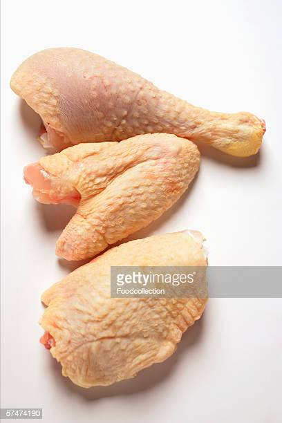 Corn-fed poularde pieces: leg, wing and breast