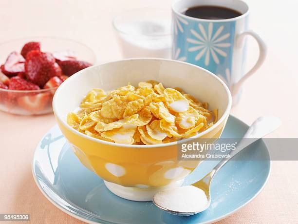 cornflakes - breakfast cereal stock pictures, royalty-free photos & images
